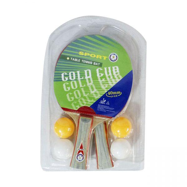 راکت پینگ پونگ گلدکاپ مدل دوبل gold cup