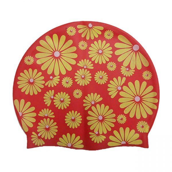 کلاه شنا حرفه ای سیلیکونی ضد آلرژیک رنگ قرمز