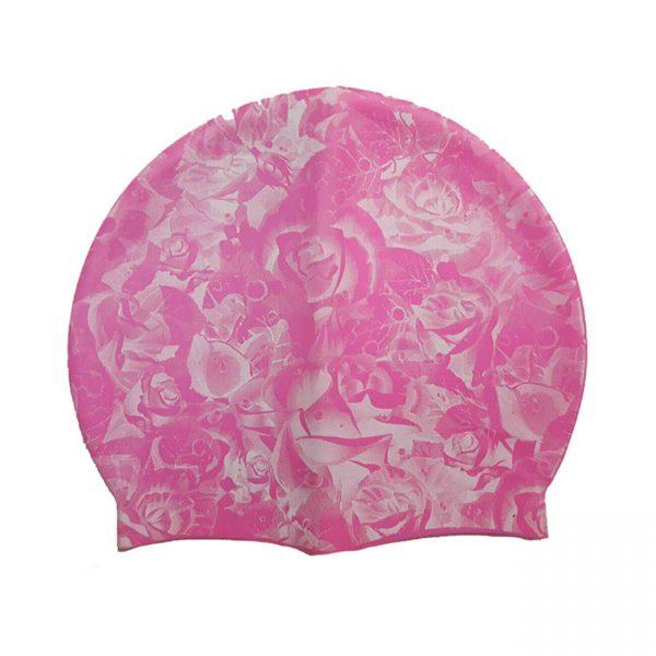 کلاه شنا حرفه ای سیلیکونی ضد آلرژیک رنگ صورتی