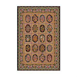 فرش ابریشمی 700 شانه ایرانی مشکی مدل عرش