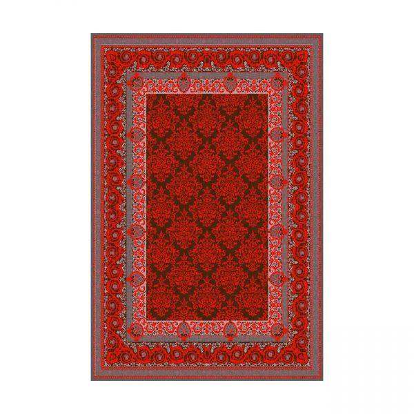 فرش ماشينی عرش طرح باران زمينه قرمز