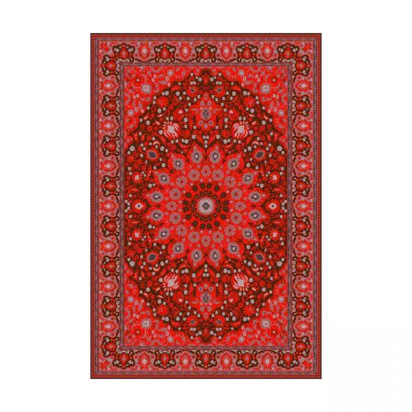فرش ماشينی عرش طرح برین زمينه قرمز