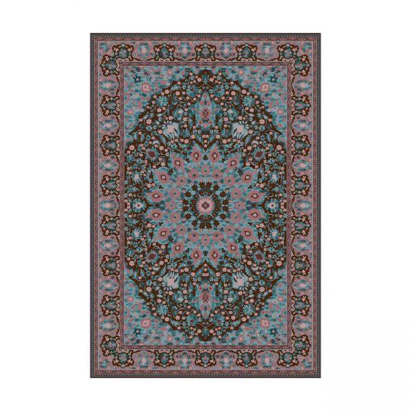 فرش ماشينی عرش طرح برین زمينه آبی