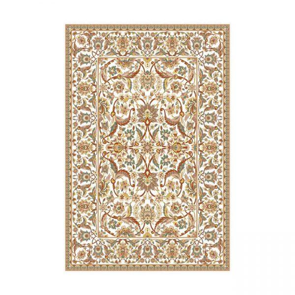 فرش ماشینی عرش طرح کاشمر زمينه کِرِم